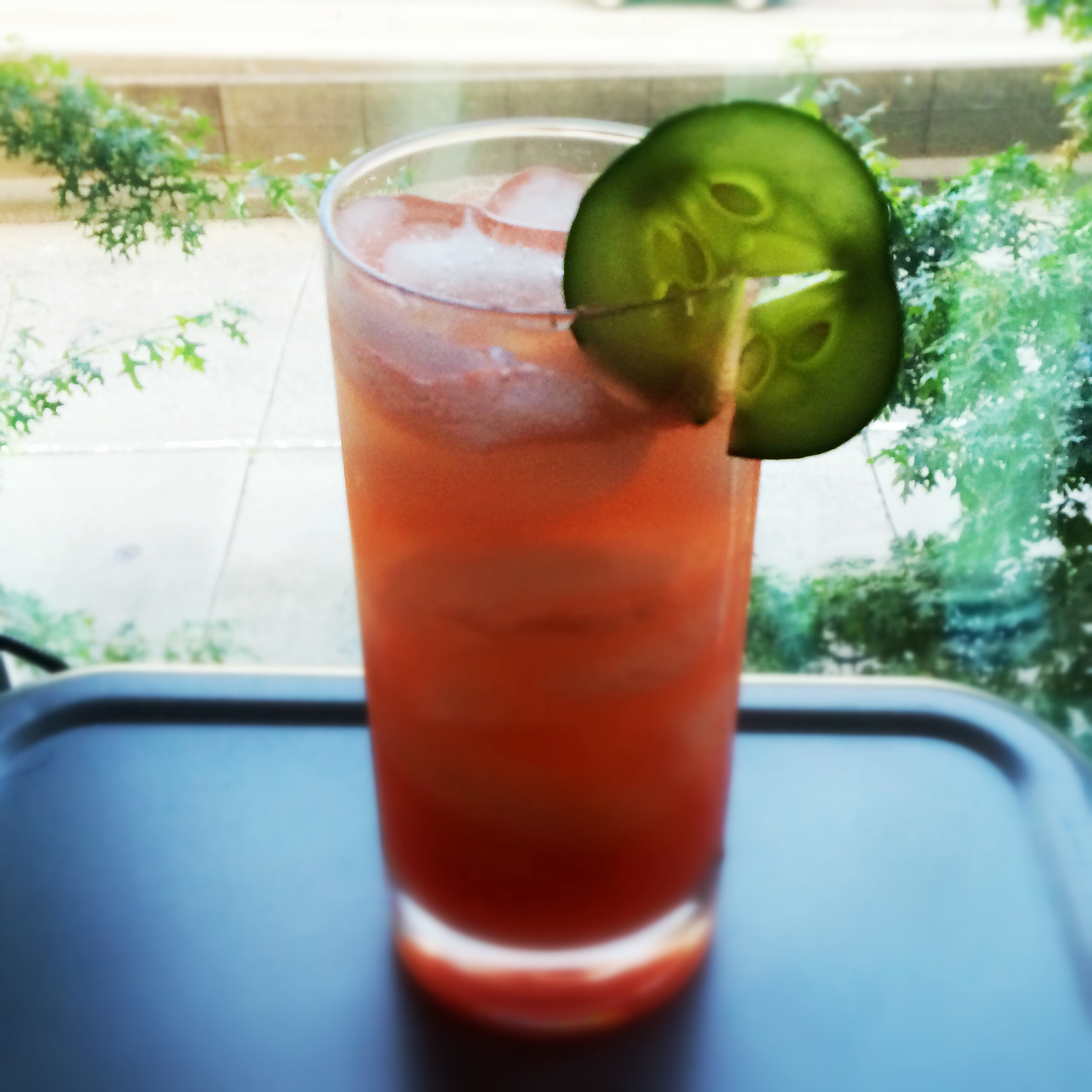 Watermelon-Cucumber Cooler Recipe — Dishmaps
